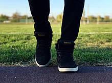 Мужские ботинки Timberland цвета нави золотой логотип топ реплика, фото 3