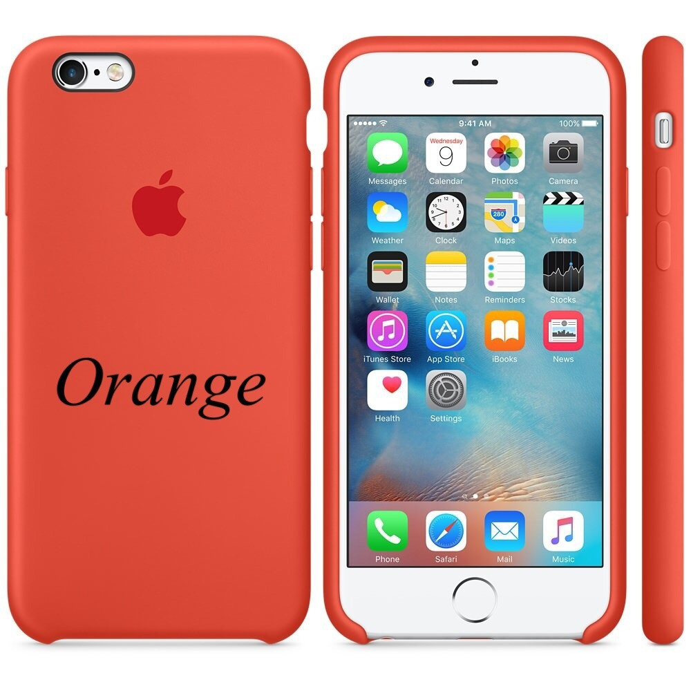 "Apple silicon case iPhone 6,6s Plus "" Orange"""