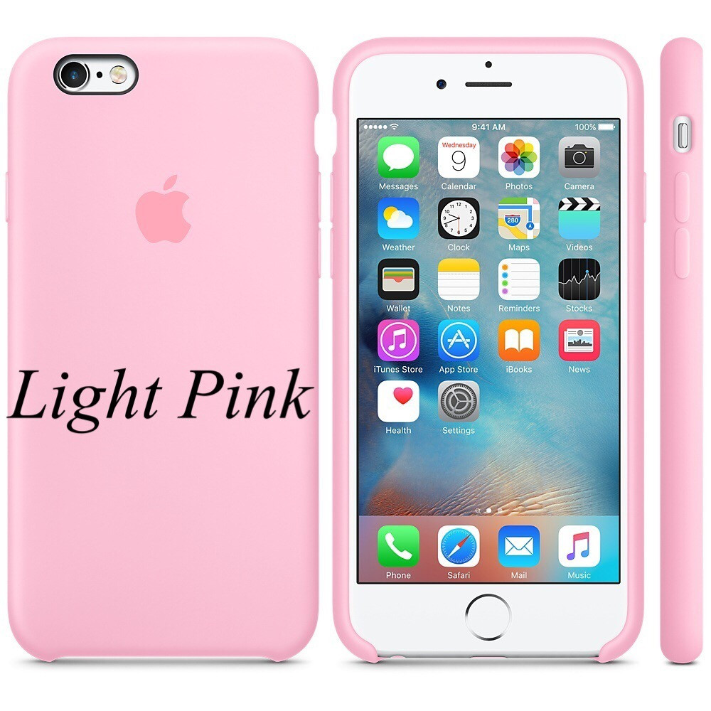 "Apple silicon case iPhone 6,6s Plus "" Light Pink"""