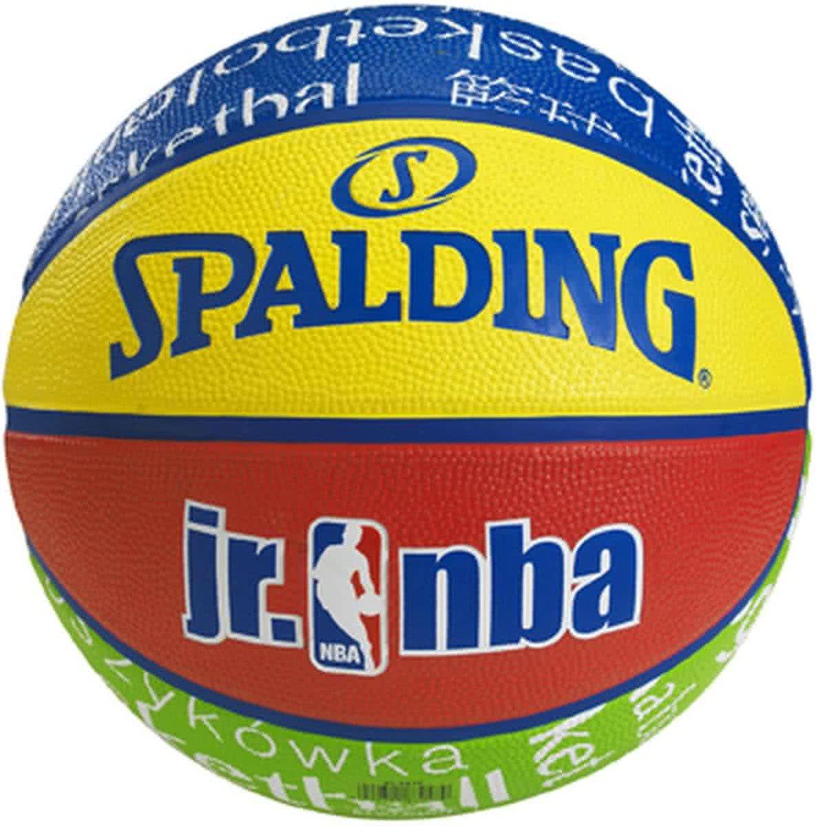 Мяч баскетбольный детский резиновый для игры на улице Spalding NBA Junior Outdoor размер 5