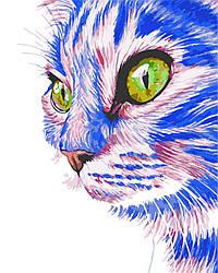 """Роспись по номерам """"Зеленоглазый кот"""" 40*50см, AS0276"""