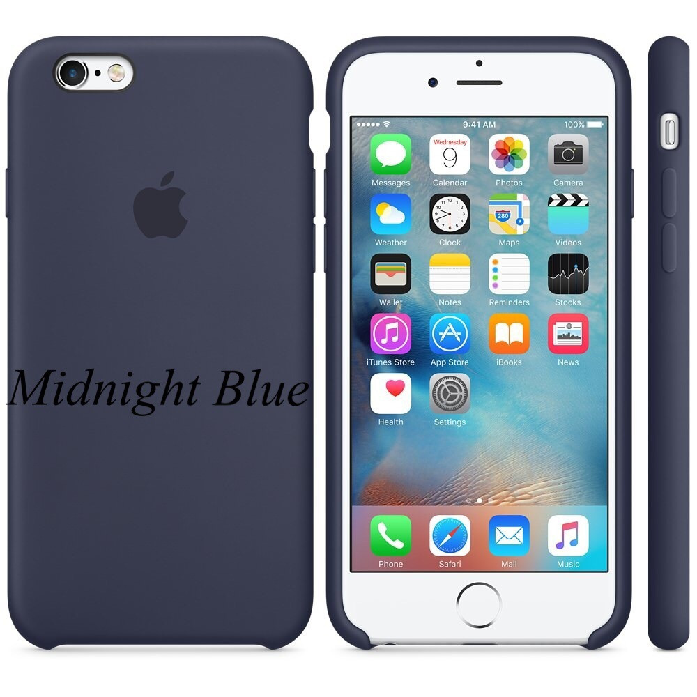 "Apple silicon case iPhone 6,6s Plus "" Midnight Blue"""