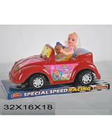 Кабриолет для кукол, с куклами, инерционная, 2 цвета, 299-1