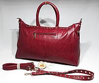 Женская большая-вместительная сумка  бордовая. УЦЕНКА!, фото 1