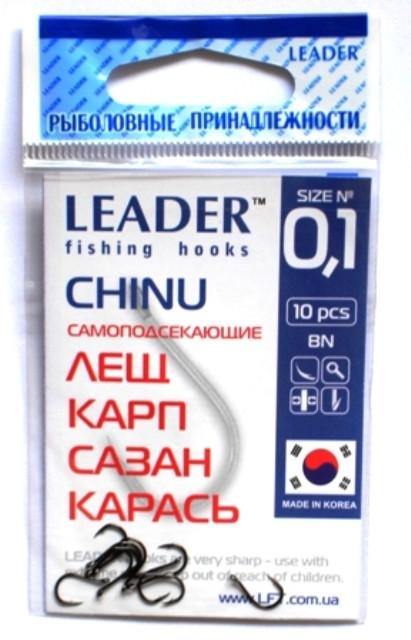 Крючки Leader CHINU BN №0.1, 10шт