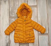 Куртка зимняя на меху для девочки Nature 2-4 года