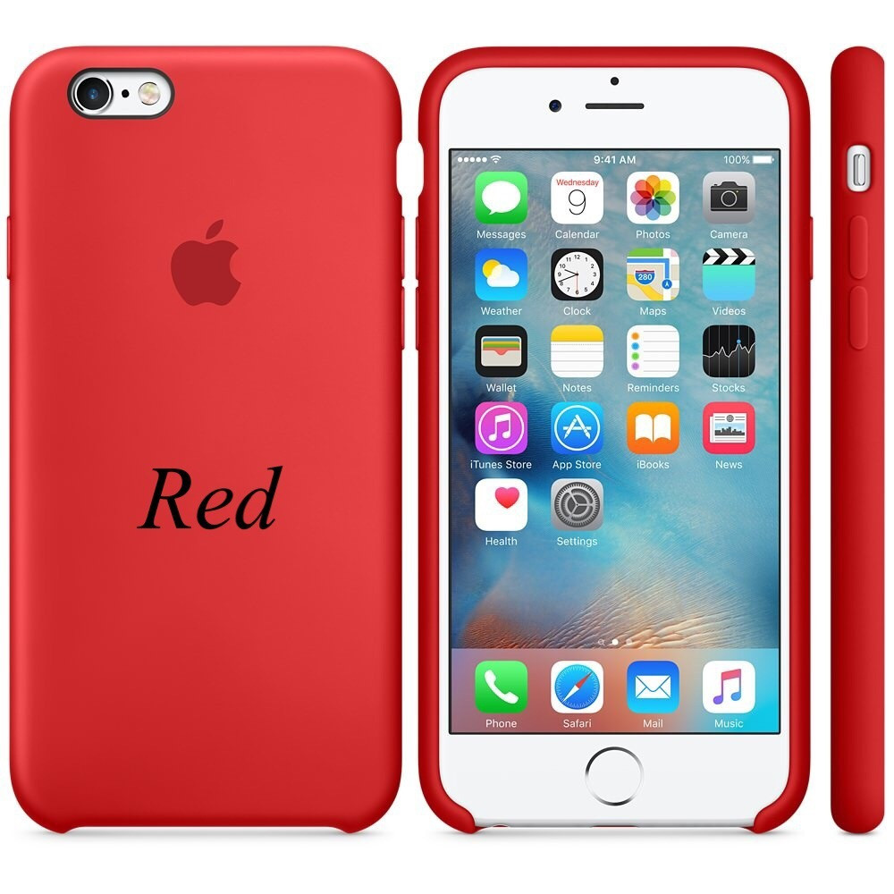 "Apple silicon case iPhone 6,6s Plus "" Red"""