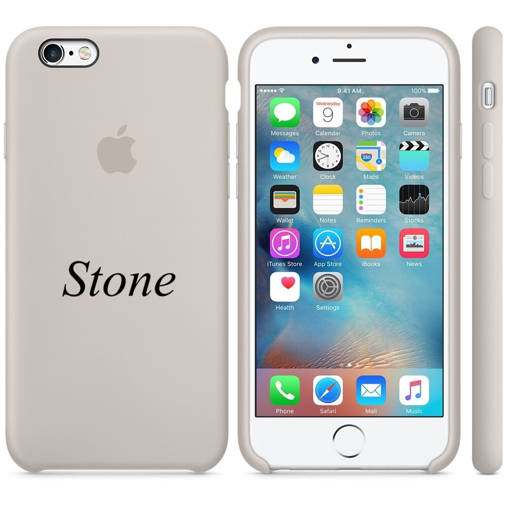 "Apple silicon case iPhone 6,6s Plus "" Stone"""