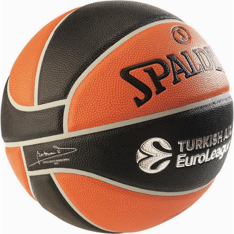 33c3695e ... Мяч баскетбольный из композитной кожи для игры в зале Spalding  Euroleague TF-1000 Legacy размер