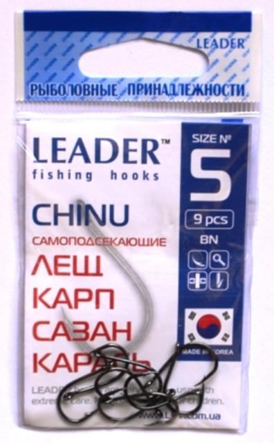 Крючки Leader CHINU BN №5, 9шт