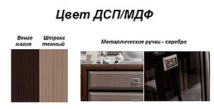 Стол письменный BIU_130 Коен МДФ венге магия/штрокс темный (Гербор ТМ), фото 2