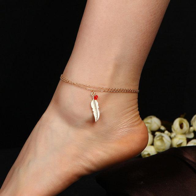 Цепочка браслет на ногу с подвеской