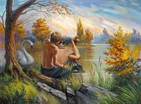 """Открытка """"Фройд, що підглядає"""", фото 1"""