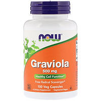 Гравиола  Гуанабана 500 мг 100 капс онкопротектор для иммунитета Now Foods USA