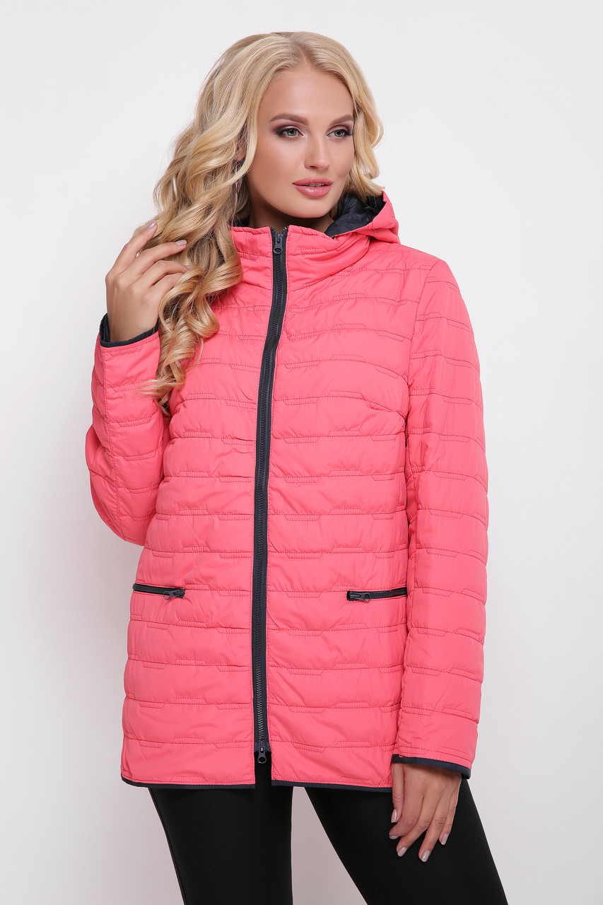 Женская куртка Нонна розовая