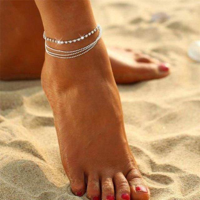 Женский браслет на ногу