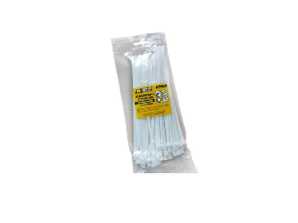 Хомут нейлоновый 4*250  белый (пач. 100шт)