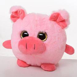 Мягкая игрушка свинка, размер средний, 20 см, MP1752