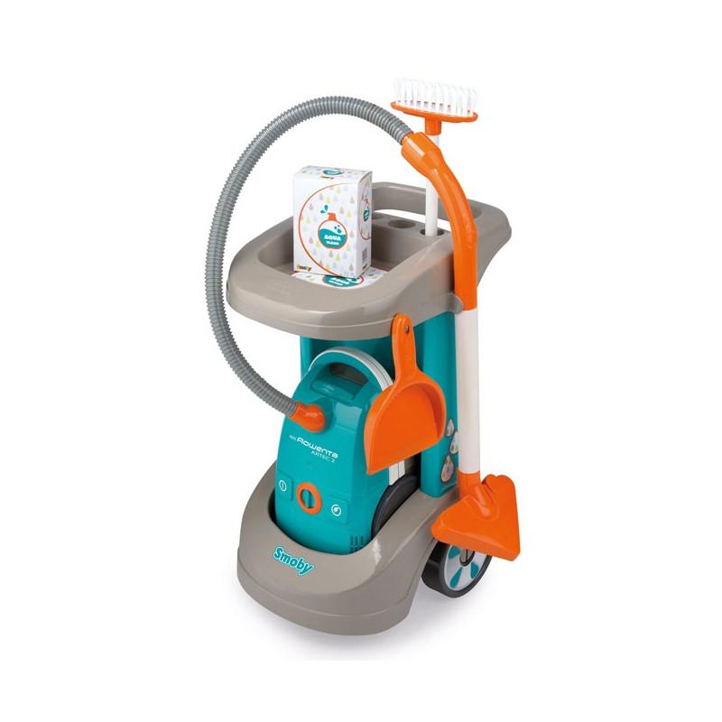 Игровой набор Smoby Тележка для уборки с пылесосом Rowenta 330306