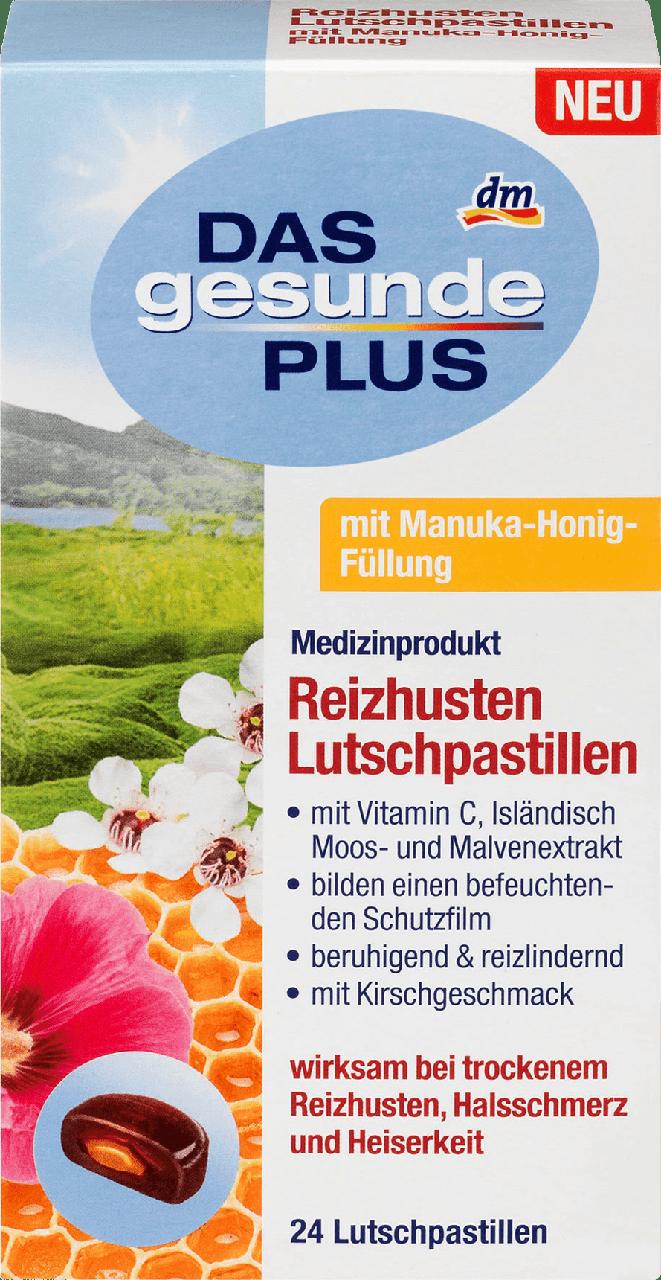 Леденцы от боли в горле Das gesunde Plus Lutschpastillen mit Manuka, 24 шт - интернет- магазин «BRAND stock» в Тернопольской области