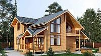 Дом деревянный двухетажный из профилированного бруса 9х15 м, фото 1