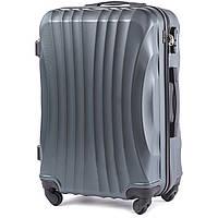 Средний пластиковый чемодан Wings 159 на 4 колесах зеленый, фото 1