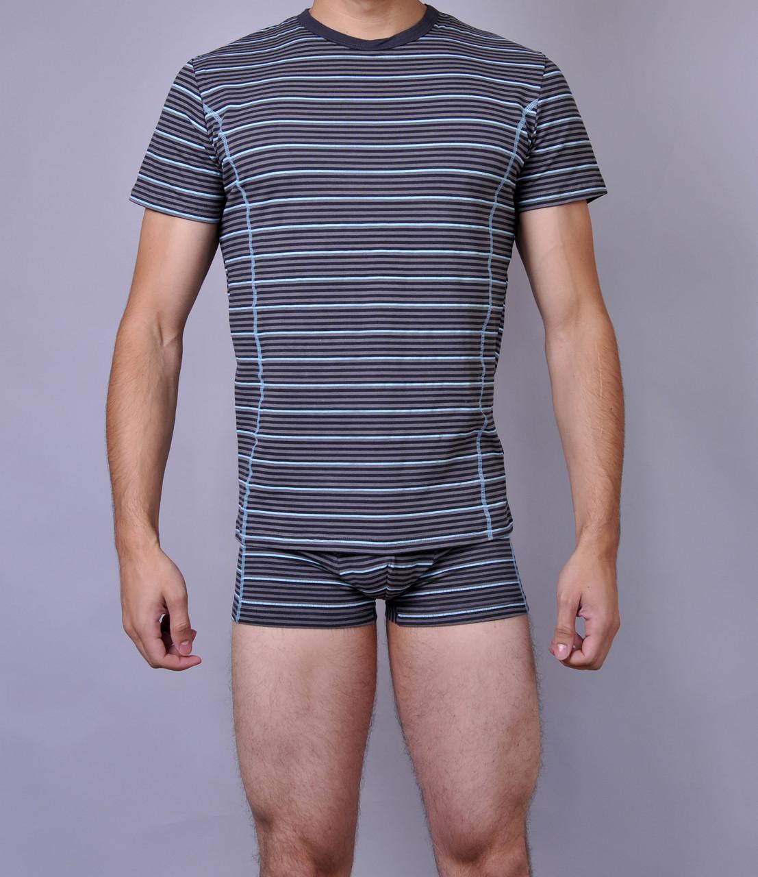 Мужские футболки (хлопок) полоска