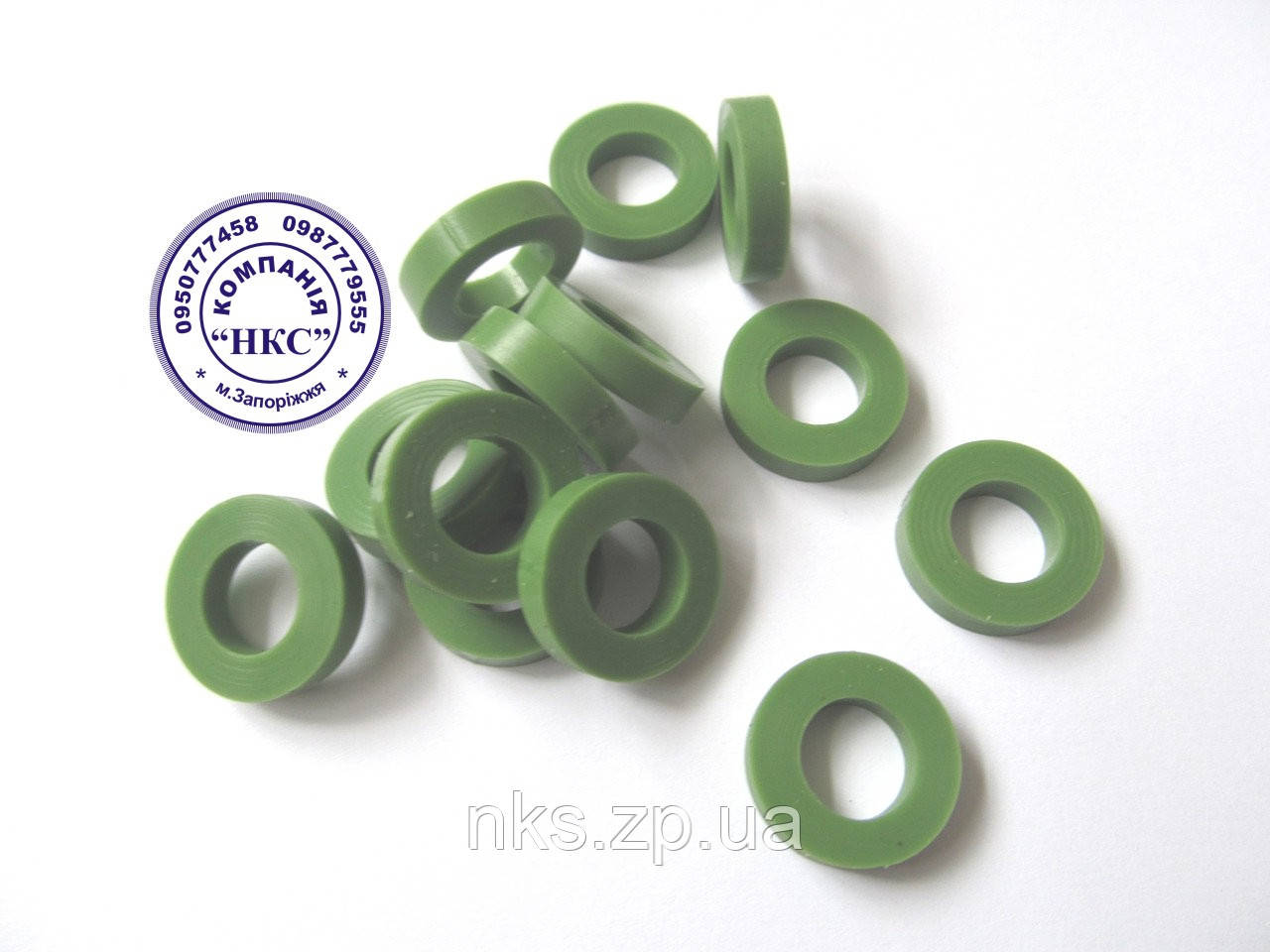 """Кольцо распылителя (силикон) зелёное к 07 форсунке """"Agroplast""""."""