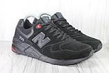 Чоловічі замшеві кросівки 46 розмір (30см.) у стилі New Balance, фото 2
