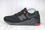 Чоловічі замшеві кросівки 46 розмір (30см.) у стилі New Balance, фото 4