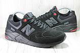 Чоловічі замшеві кросівки 46 розмір (30см.) у стилі New Balance, фото 5