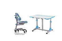 Комплект детской мебели : Парта-трансформер CAPTAIN К-4 T + Стул КУ-618BL