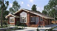 Дом деревянный из профилированного клееного бруса 12х12 м