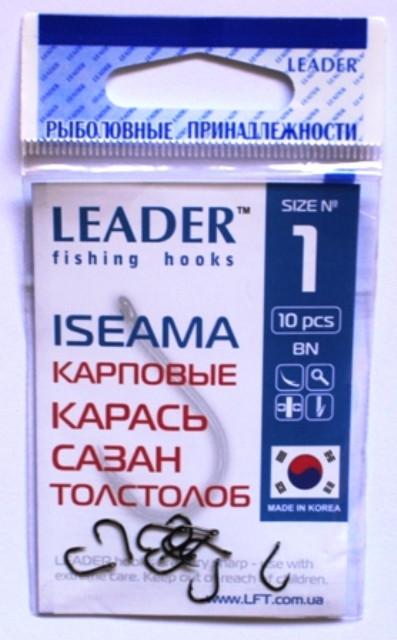 Крючки Leader ISEAMA BN №1, 10шт