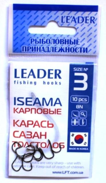 Крючки рыболовные Leader ISEAMA BN №3, 10шт