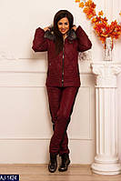 Женский стильный лыжный костюм с мехом, фото 1