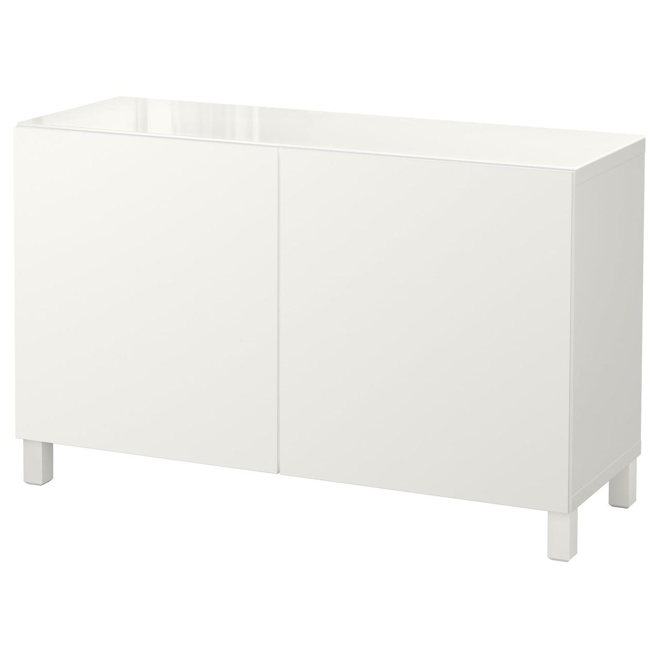 Тумба IKEA BESTÅ 120x40x74 см Lappviken белая 592.101.62