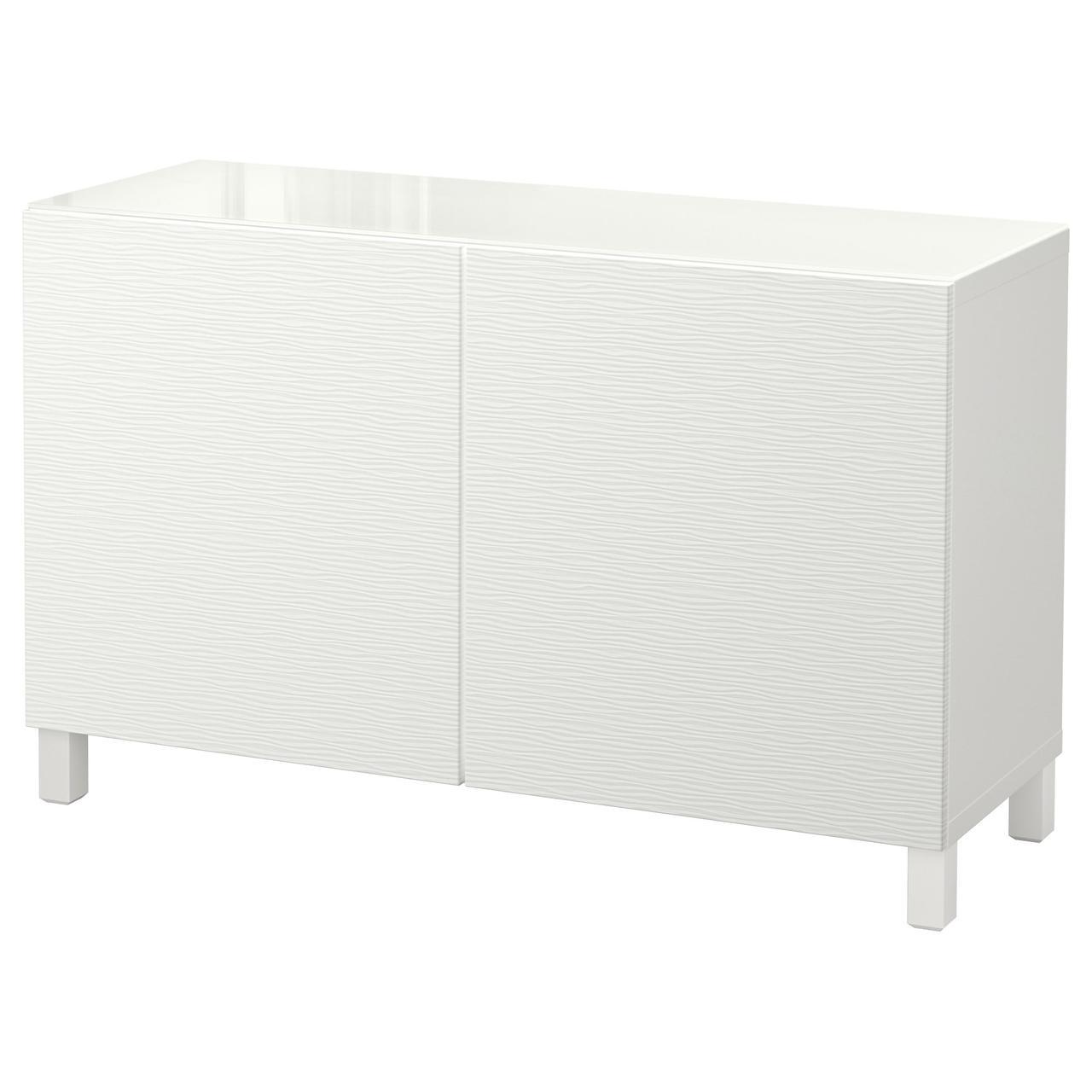 Тумба IKEA BESTÅ 120x40x74 см Laxviken белая 892.101.65