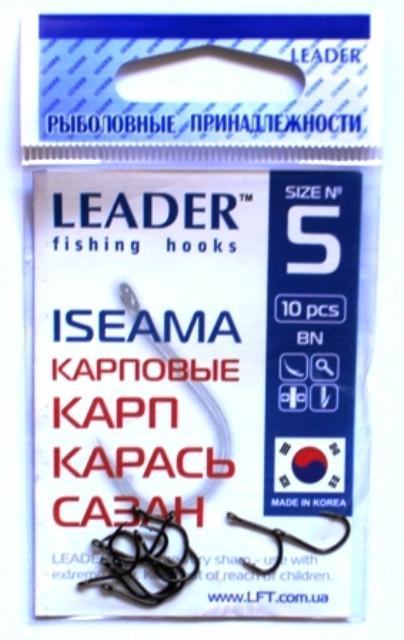 Крючки для рыбалки Leader ISEAMA BN №5, 10шт