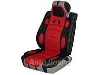 Накидка для сиденья универсальная Sport Vitol черно-красная 1 шт