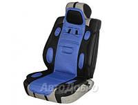 Накидка для сиденья универсальная Sport Vitol черно-синяя 1 шт