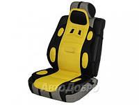 Накидка для сиденья универсальная Sport Vitol черно-желтый 1 шт