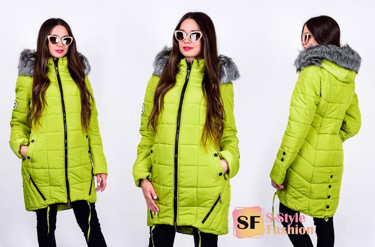 Зимняя женская куртка -46-52 рр яблоко