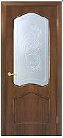 Двери шпонированные со стеклом+КР  Каролина  Омис