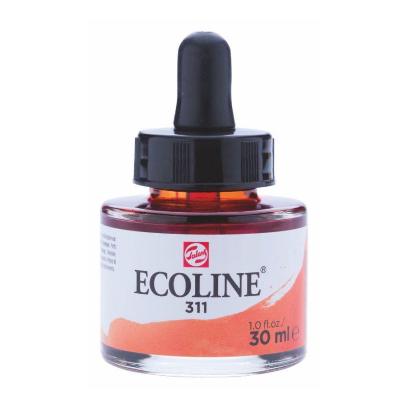 Краска акварельная жидкая Ecoline (311), киноварь, 30 мл, Royal Talens, 11253111