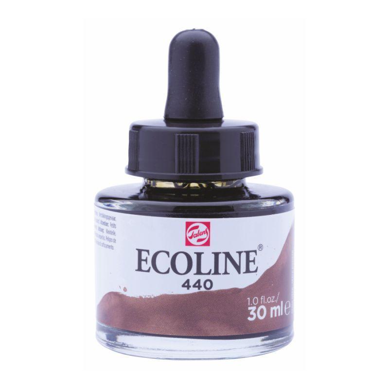 Краска акварельная жидкая Ecoline (440), сепия темная, 30 мл, Royal Talens, 11254401