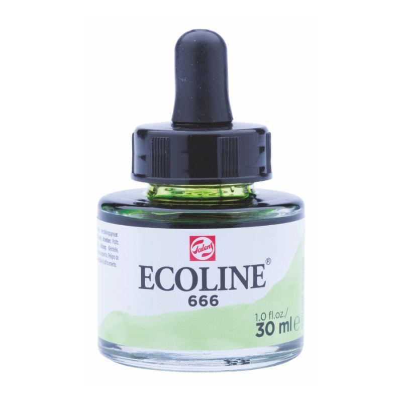 Краска акварельная жидкая Ecoline (666), пастельная зеленая, 30 мл, Royal Talens, 11256661