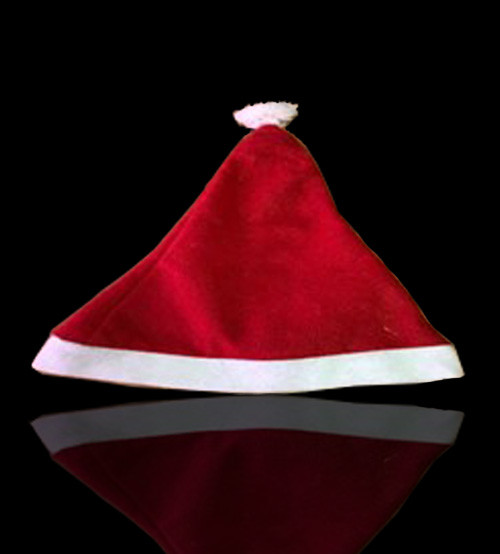 Новогодняя шапка красная, колпак Санта Клауса
