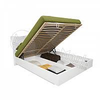Кровать 160х200 Богема с мягкой спинкой, подъемником  и каркасом Миро-Марк