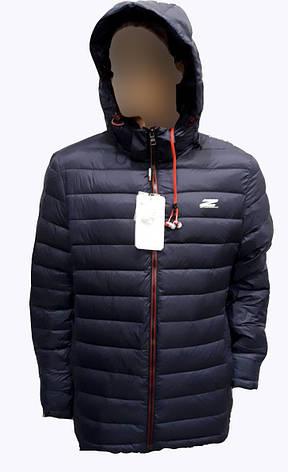 Демисезонная мужская куртка  Zero Frozen на синтепоне Синяя, фото 2